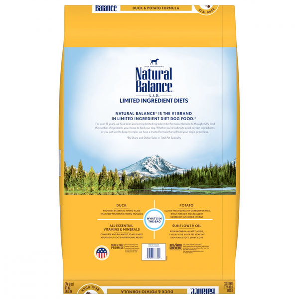 Natural Balance L.I.D. Limited Ingredient Diets Potato & Duck Dry Dog Food