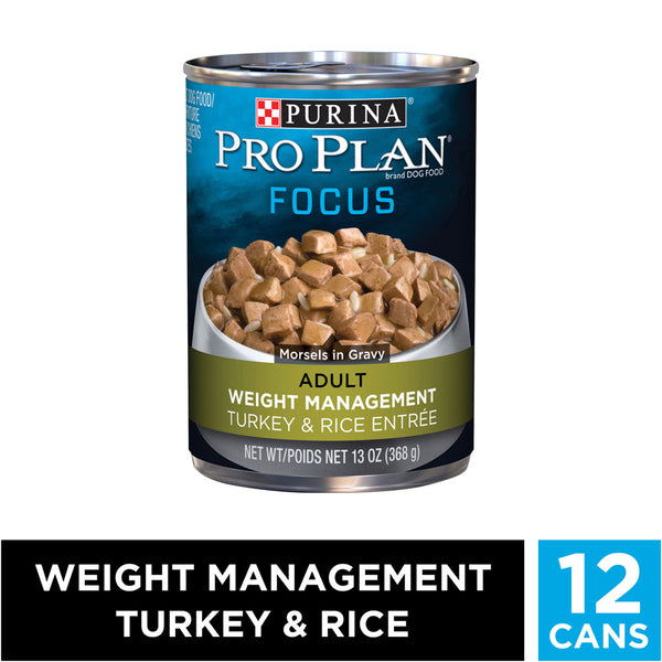 Purina Pro Plan Focus Adult Weight Management Turkey & Rice Entree Canned Dog Food