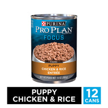 Load image into Gallery viewer, Purina Pro Plan Focus Puppy Chicken & Rice Canned Dog Food