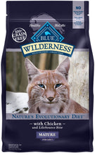 Load image into Gallery viewer, Blue Buffalo Wilderness Grain Free Chicken High Protein Recipe Mature Dry Cat Food