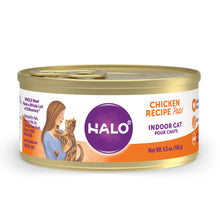 Load image into Gallery viewer, Halo Grain Free Indoor Cat Chicken Pate Canned Cat Food