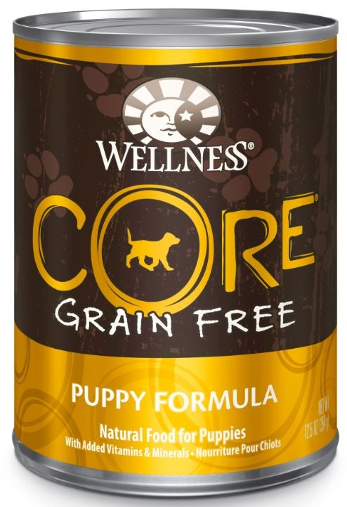 Wellness CORE Grain Free Natural Puppy Health Turkey, Chicken and Herring Recipe Wet Canned Dog Food
