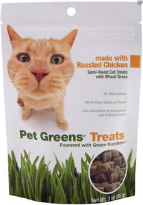 BellRock Cat Greens Semi Moist Roasted Chicken Cat Treats