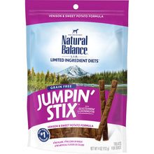 Load image into Gallery viewer, Natural Balance L.I.T. Limited Ingredient Treats Jumpin' Stix Venison & Sweet Potato Formula Dog Treats