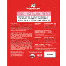 Load image into Gallery viewer, Stella & Chewy's Freeze Dried Raw Chicken Hearts Dog Treats