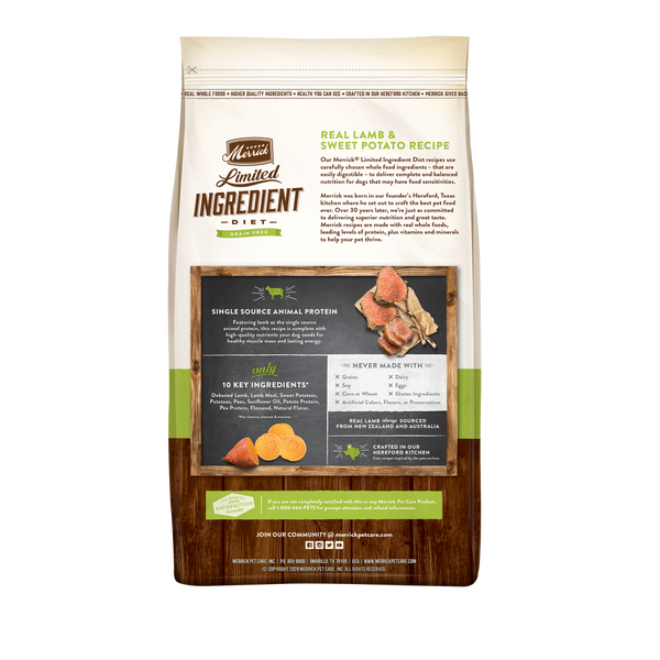 Merrick Limited Ingredient Diet Grain Free Real Lamb & Sweet Potato Recipe Dry Dog Food