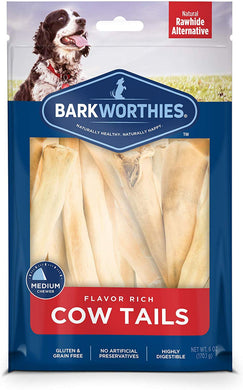 Barkworthies All Natural Cow Tail Dog Chews