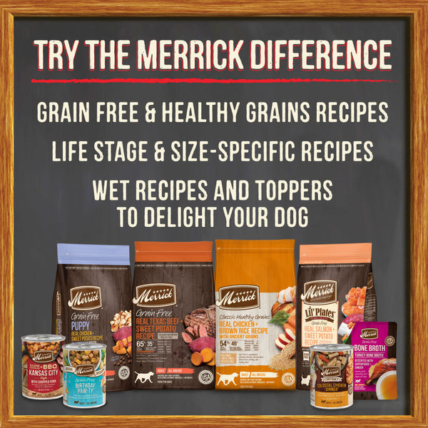 Merrick Grain Free Turkey Bone Broth Wet Dog Food Topper