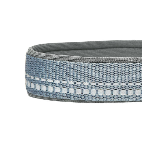 Blueberry Soft & Comfy 3M Reflective Gray Padded Dog Collar