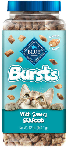 Blue Buffalo Bursts Filled Seafood Cat Treats