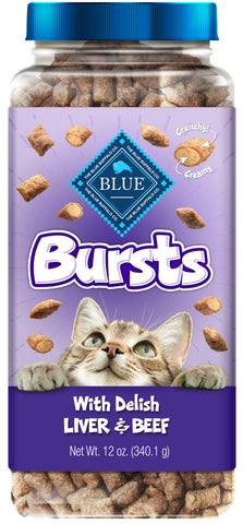 Blue Buffalo Bursts Filled Chicken Liver & Beef Cat Treats