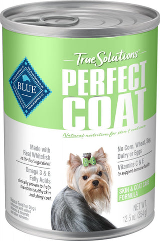 Blue Buffalo True Solutions Perfect Coat Natural Skin & Coat Care Whitefish Recipe Adult Wet Dog Food