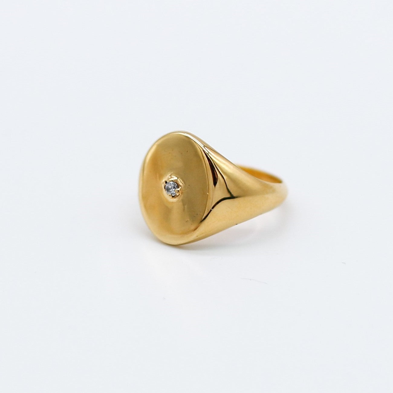 Signet Ring -  Handmade gold plated Katy Valentine - Shop with Sparkle & The Sinner