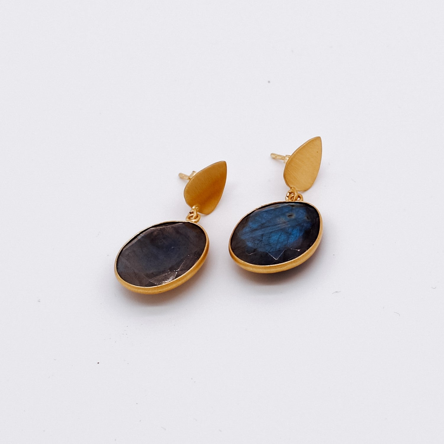 Amber Earrings - Luxurious London Topaz Quartz handmade gold plated Katy Valentine - Shop with Sparkle & The Sinner