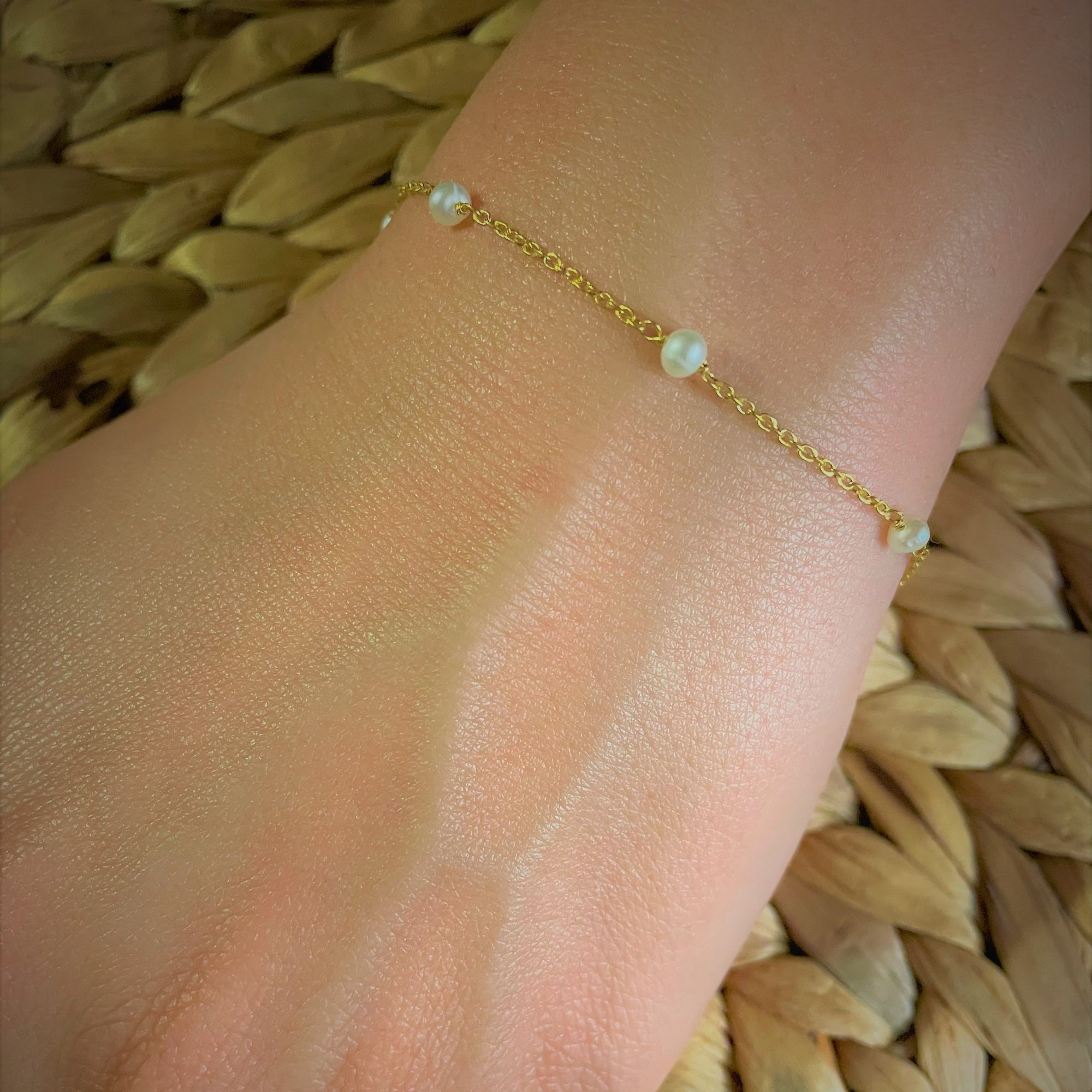 Pearl and Chain Bracelet  - Delicate handcrafted Katy Valentine - Shop with Sparkle & The Sinner