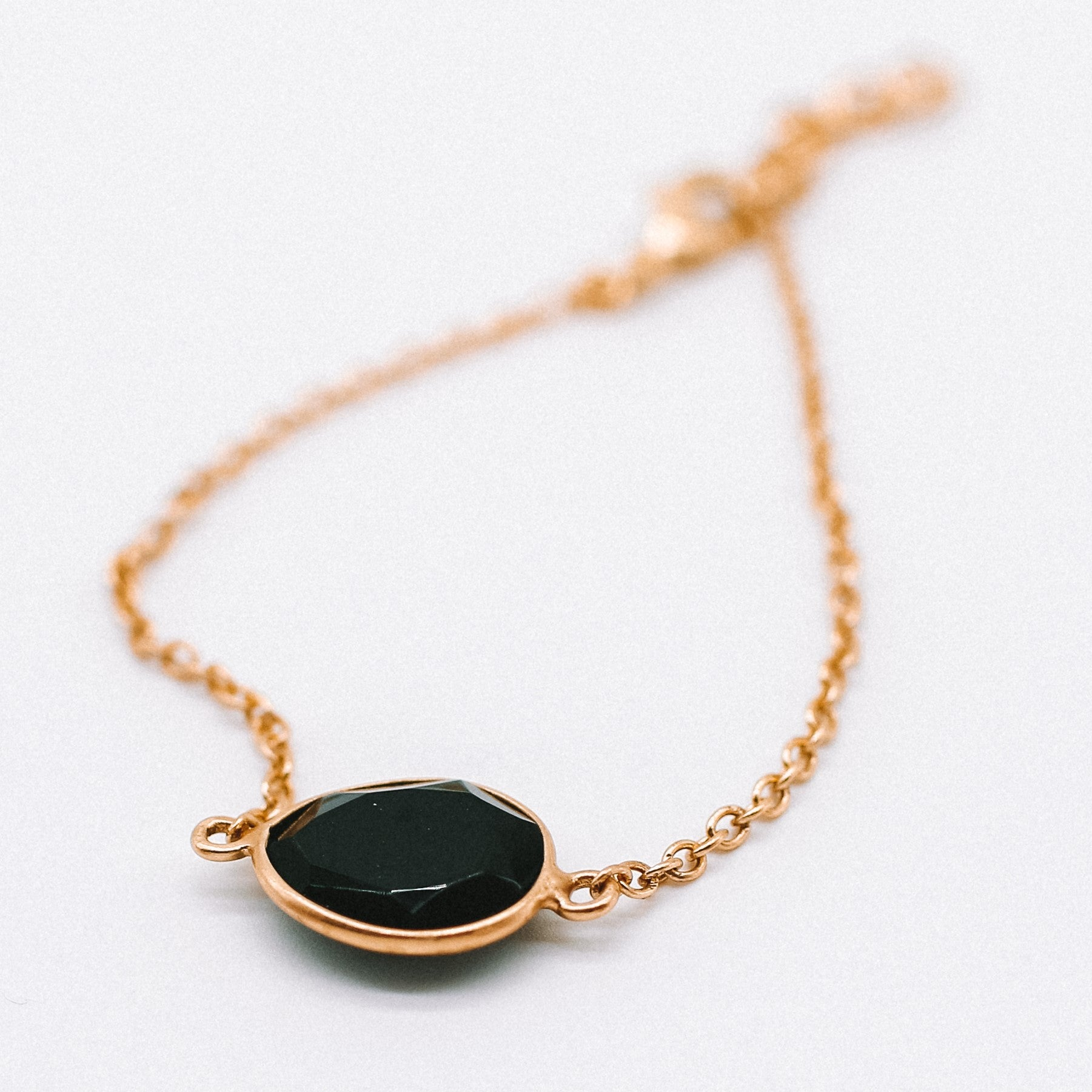 Hunter Bracelet - Black Onyx - Hand crafted gold plated Katy Valentine - Shop with Sparkle & The Sinner
