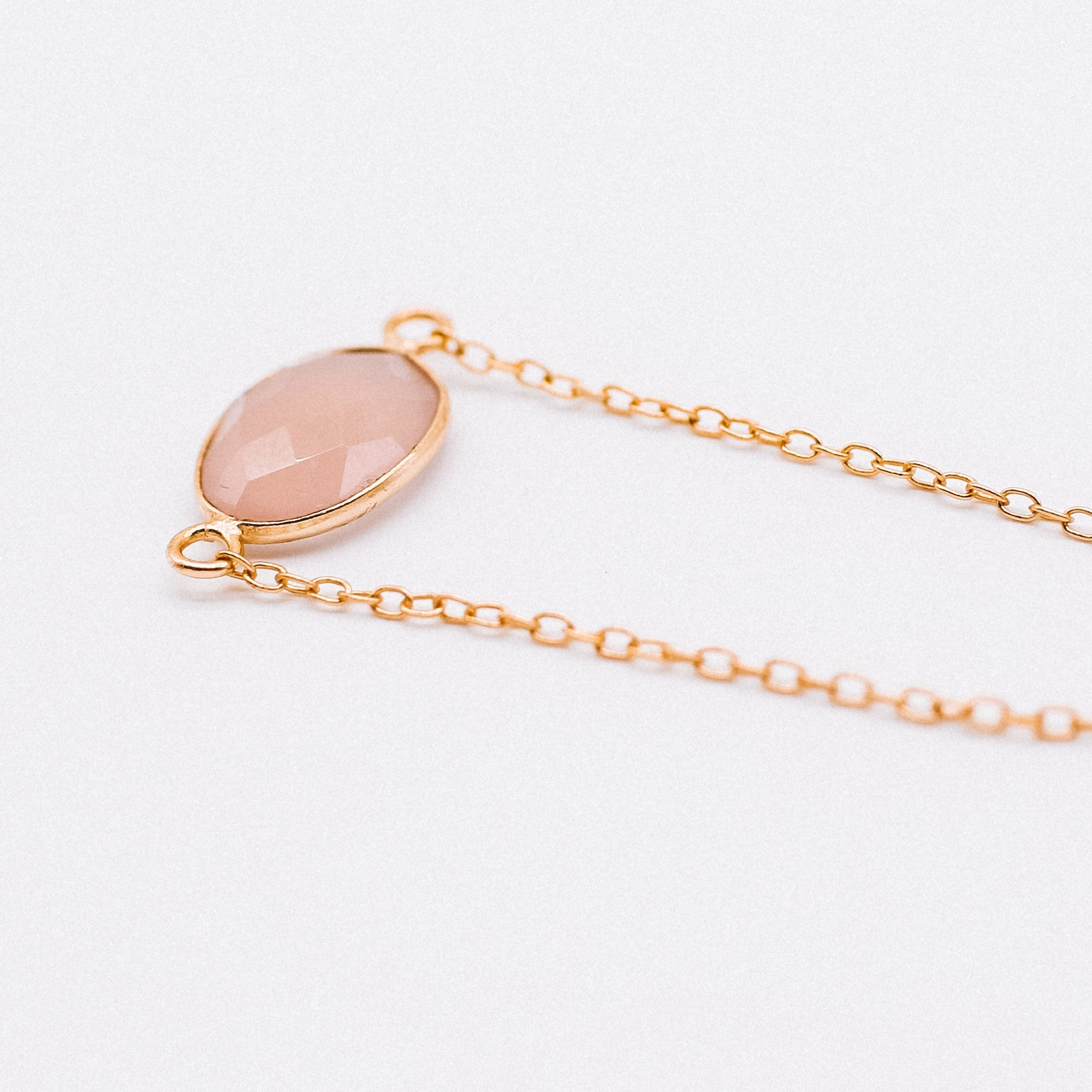 Hunter Bracelet - Rose Chalcedony - Hand crafted gold plated Katy Valentine - Shop with Sparkle & The Sinner