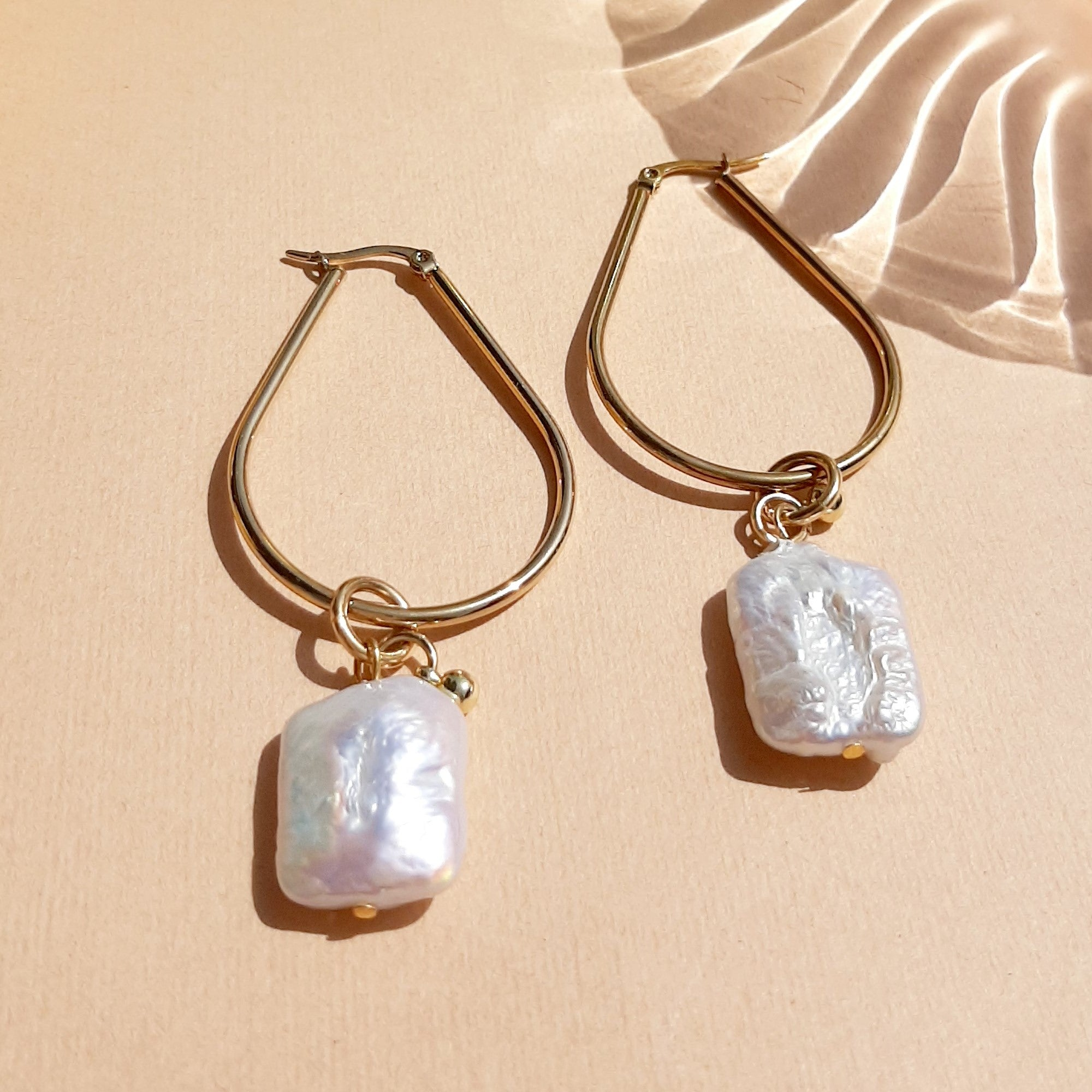 Bella Vita Drop Earrings & Pearl Pendant - Gold plated handmade Shelly Dahari - Shop with Sparkle & The Sinner