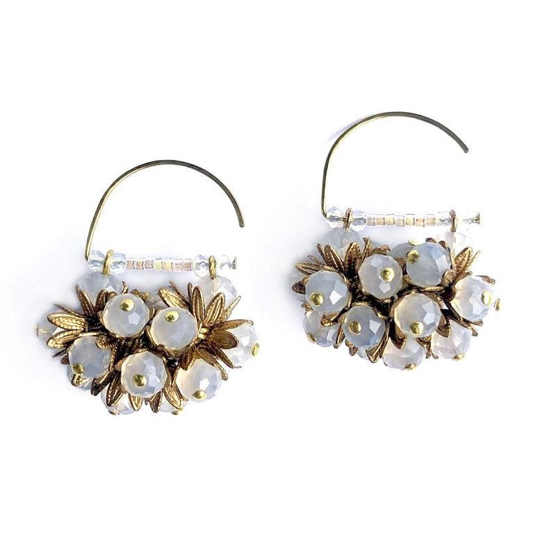 Big Mil Flores- Beaded Earrings handmade Mimi Scholer - Shop with Sparkle & The Sinner