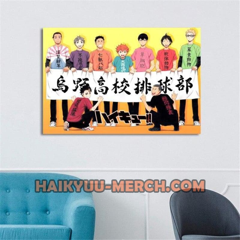 haikyuu anime wall art