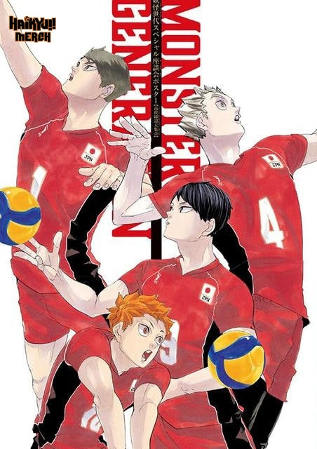 haikyuu monster generation poster