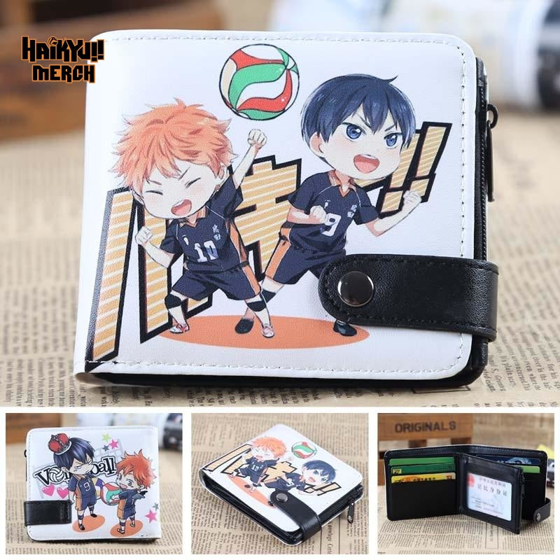 haikyuu leather wallet