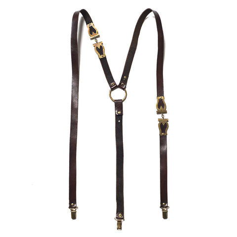 Leather & Brass Braces