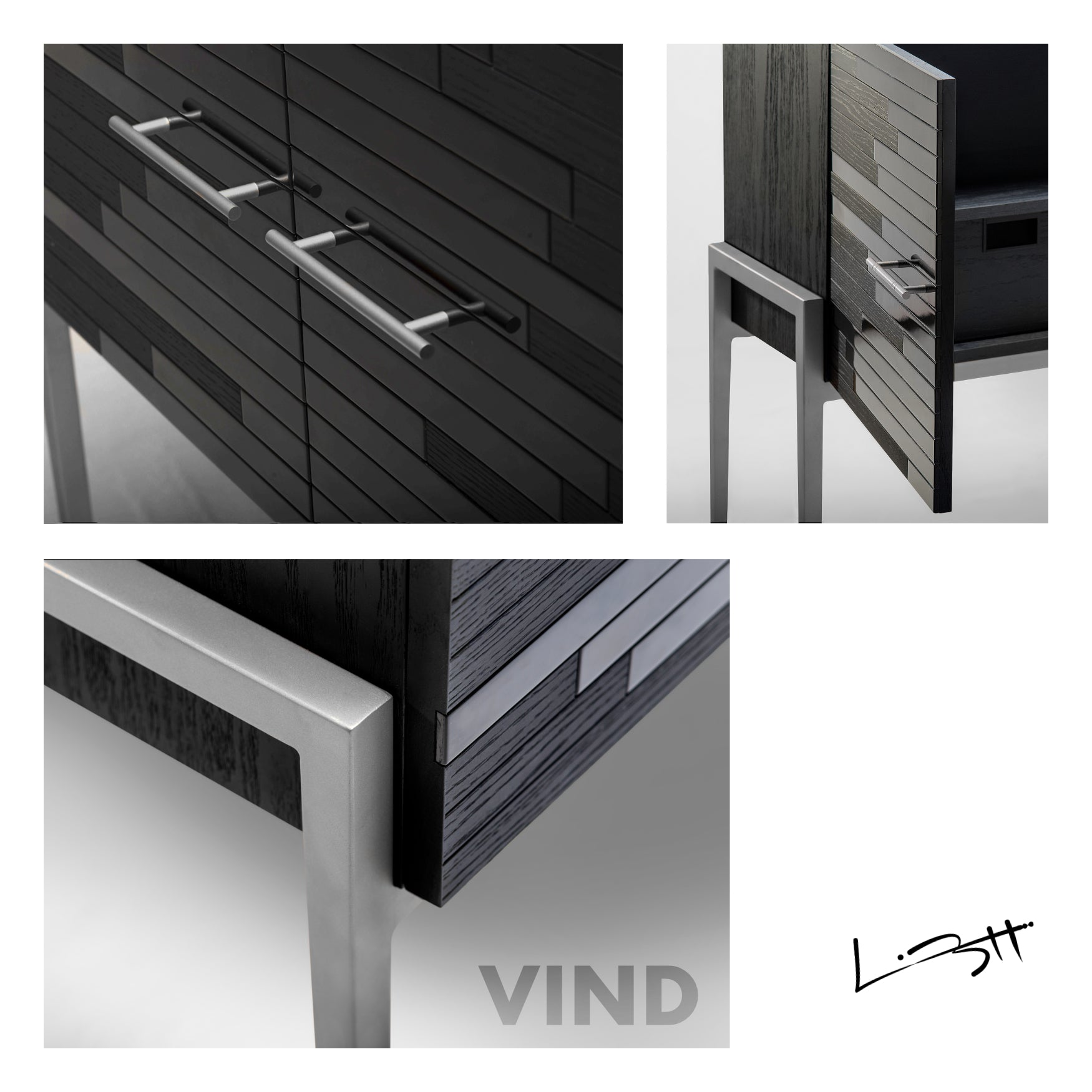 Vind Modern Sideboard in Platinum