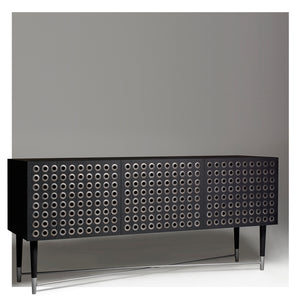 Modern Buffet or Cabinet in Black Oak