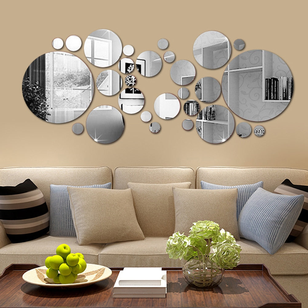 30Pcs BelleImi 3D Mirror Round Removable