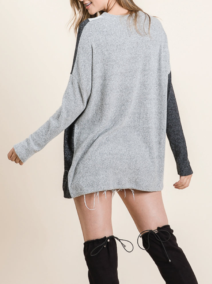 SUPERSOFT TRIANGLE BLOCK PULLOVER