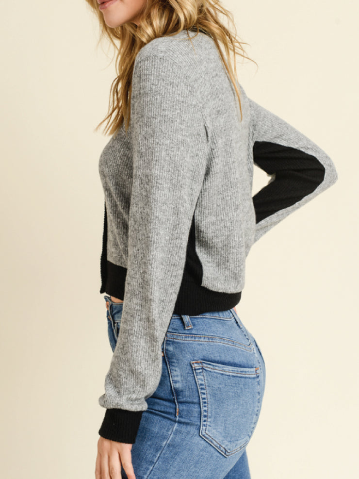 SUPERSOFT COLOR BLOCK CARDIGAN