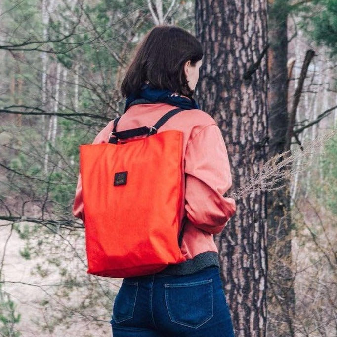 Convertible tote backpack Shoppy | Orange