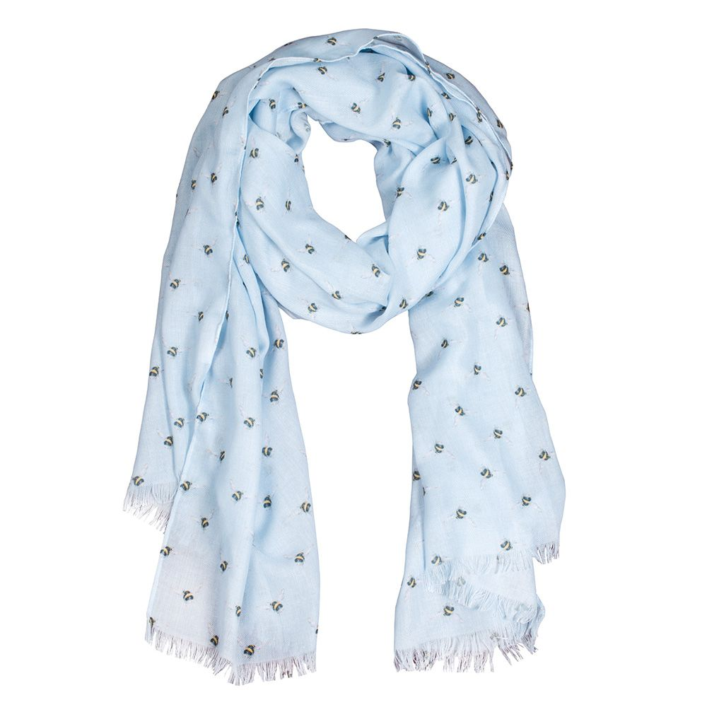 An image of Blue Bee Scarf