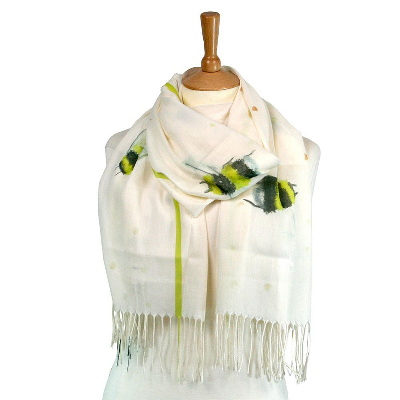 Scarf - White Bee