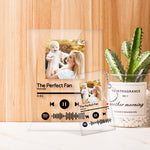 For Mom - Personalized Spotify Code Music Plaque(4.7in x 6.3in) With A Free Same Keychain(2.1in x 3.4in)