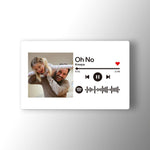 Custom Spotify Music Code Wallet Card Personalized Message Card White