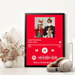 Custom Spotify Code Music Wood Frame Painting With Text-Pink
