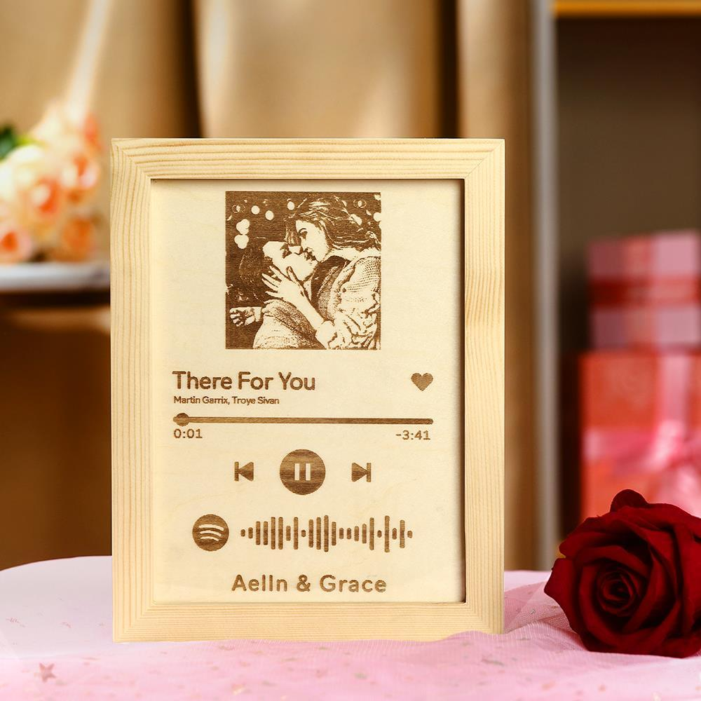 Custom Spotify Code Music Song Woodcarving Painting