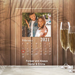 Custom Calendar Plaque With Your Photo(4.7in x 6.3in)