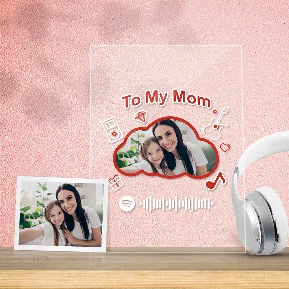 To My Mom Gift-Scannable Spotify Code Acrylic Music Plaque