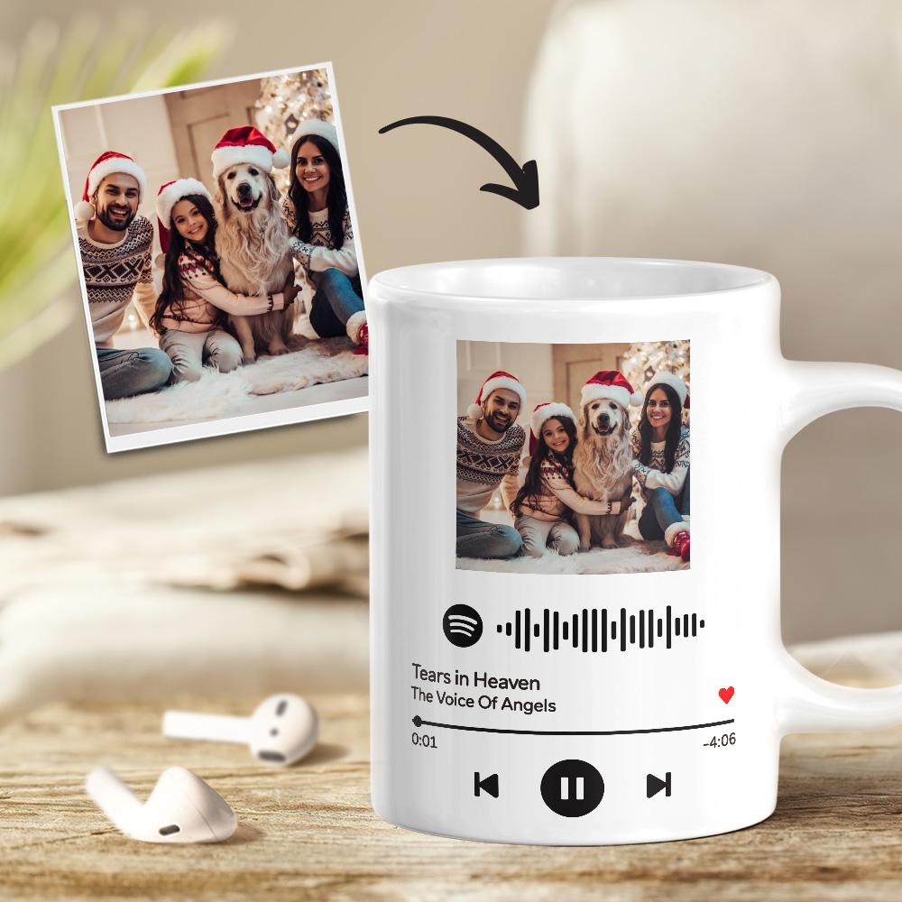 Custom Scannable Spotify Code Photo Mug Family Gift