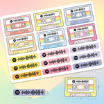 Custom Spotify Music Code Sticker Tape And Bar Stickers - Whole Sheet 21x15cm/8.26x5.90in