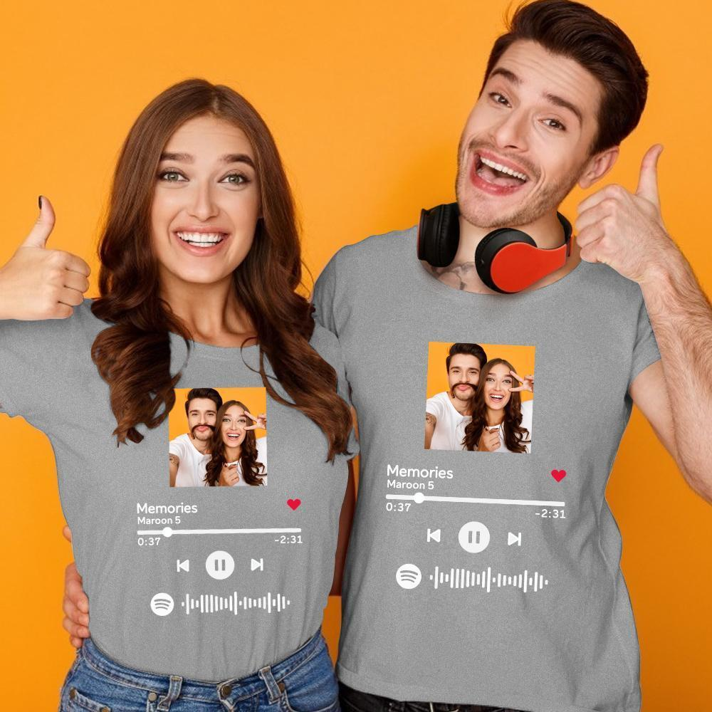 Custom Scannable Spotify Code T-shirt With Your Photo