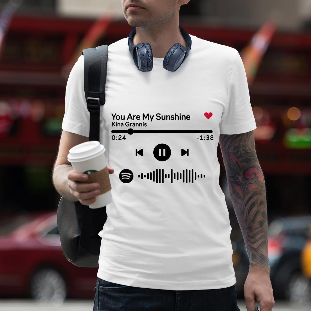 Custom T-shirt Scannable Spotify Code