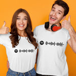 Custom Scannable Spotify Code T-shirt Engraved T-shirt Unique Gifts Unisex