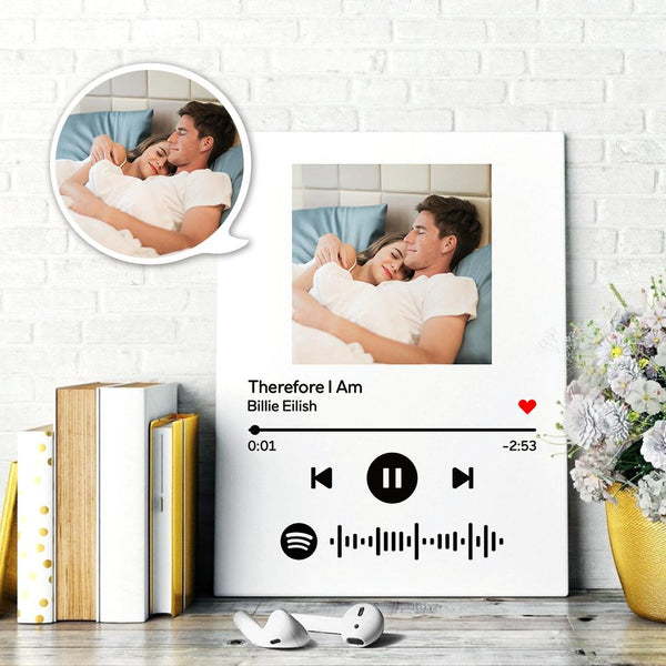 Custom Scannable Spotify Code Painting Canvas Personalized Photo Oil Painting Music Song Wall Art Canvas