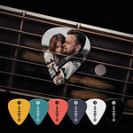 Spotify Music Code Guitar Pick 12Pcs With Photo - Yellow