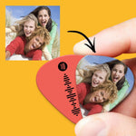 Spotify Music Code Guitar Pick 12Pcs With Photo - Pink