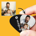 Spotify Music Code Guitar Pick 12Pcs With Photo - White